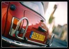 Mini (Maestr!0_0!) Tags: street red 3 film car canon rouge eos 50mm fuji mini voiture cooper rue provia argentique