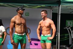 Green shorts pride (Can Pac Swire) Tags: shirtless white toronto ontario canada man black men guy green bank canadian shorts gaypride banking td 2014 worldpride bankology aimg9899