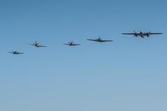 FHC Skyfair (wacamerabuff) Tags: airplane aircraft north american b25j mitchell fhc supermarine spitfire mkvc messerschmitt bf 109 e3 emil p51d mustang b25 p51 wwii fighter usaf