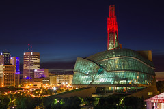 Canadian Museum For Human Rights (bryanscott) Tags: architecture building canadaday cmhr downtown fireworks forks manitoba night winnipeg canada sitm2bs