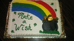 St Patricks Day cake by Pam, Linn County, IA, www.birthdaycakes4free.com