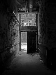 The light at the end of... (PLADIR) Tags: door light blackandwhite lost licht panasonic sw tr schwarz gh1 industrieanlage verlasseneorte