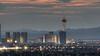 Las Vegas Weather Vean (Motel George) Tags: dusk telephoto magichour lasvegasstrip lasvegasskyline stratospherehotel canon400mm56l canon5dmarkii projectweather lasvegasweathervean