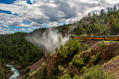 Durango to Silverton Train (The Spider Pig) Tags: mountains forest train river nikon colorado silverton durango d7100