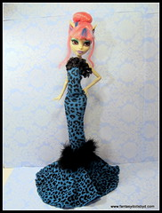 Gown Blue Leopard (1) (Fantasy Dolls by Donna Anne) Tags: blue monster for high wolf doll long dolls venus jane ooak grant cam abby steam frankie clothes wishes gigi hood after wigs create spectra custom cleo 13 ever stein wisp denile rochelle cherise screams operetta repaint catrine goyle lagoona repainted faceup scarah repaints purrsephone yelps robecca ghoulia howleen clawdeen werecats demew draculaura bominable vondergeist toralie meowlody mcflytrap jinafire boolittle