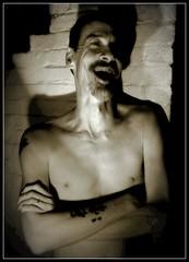 Hilarious (Ronald Douglas Frazier) Tags: bw selfportrait nude illinois midwest humorous selfie