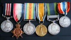 My Grandfather's Military Medals (late2lense) Tags: bronze silver ribbons war grandfather silk ww1 remembrance bravery medals 2ndbattalionseaforthhighlanders