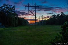 Power Lines (dbubis) Tags: sunset sky clouds tampa powerline bubis dbphoto nex6
