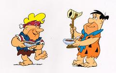 Hanna-Barbera Flintstones Pebbles Cereal cel, by Scott Shaw!, 1980's (kerrytoonz) Tags: post cereal pebbles flintstones fruitypebbles cocoapebbles fredflintstone barneyrubble hannabarbera