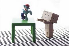 IMG_0308 (angelwulf_BJD) Tags: man table rainbow chair amazon little box sofa cardboard pony dash totoro figure figurine articulate danbo danboard