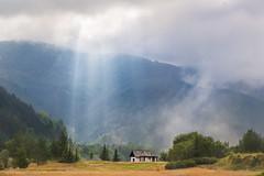 First Ray Of Light (Irene Becker) Tags: morning fog forest village tara serbia balkan srbija taramountain zaovine bajinabašta westserbia zlatibordistrict irenebecker nacionalniparktara imagesofserbia branalazići irenebeckereu