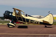Private --- Waco UPF-7 --- G-UPFS (Drinu C) Tags: plane private waco aircraft sony dsc ffd fairford riat theroyalinternationalairtattoo upf7 egva gupfs hx100v adrianciliaphotography