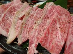 Wagyu Beef! @Ajiya, Huaihai Road, Shanghai (Phreddie) Tags: china food beer dinner japanese restaurant yum shanghai beef meat grill eat korean charcoal yakiniku meatclub 140815 ajiya