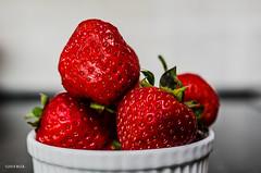 Red and Sweet! (BGDL) Tags: red summer strawberries odc bigfave nikond7000 bgdl lightroom5 afsmicronikkor40mm128g