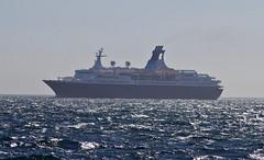 Saga Cruises (tony.evans) Tags: sea rock ferry plane marine ship dolphin vessel container bunker dolphins catamaran airbus a380 gibraltar tanker levante straitofgibraltar bayofgibraltar straitride yachtbunkering britishairwaysstraitride