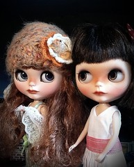 Blythe-a-Day August 2014#13: Hat: Scout (right) and Cousin Juliette (left)