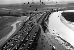 other ways (asketoner) Tags: road autumn fall cars saint birds river parking bretagne michel mont montsaintmichel