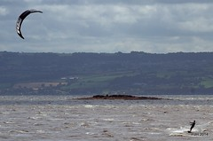 Extreme weather makes for fun on the Dee. (Peter J. Ham Many thanks for viewing my pics.) Tags: england cold wet sport wales canon fun outside coast wind para tide extreme stormy surfing kites telephoto 7d redrocks watersports dee tidal xtreme wirral