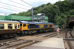 66719 METRO-LAND 27th July 2014 Ipswich (Ian Sharman 1963) Tags: charity london station train tour diesel great shed engine july rail loco 66 class gb british locomotive ipswich 27th basingstoke 2014 metroland railfreight crosslink gbrf 66719 1z50