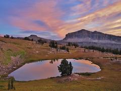 Sunset Lake, Teton Crest Trail, Jedediah Smith Wilderness (wldrns) Tags: backpacking wyoming sunsetlake grandtetonnationalpark alaskabasin tetoncresttrail jedediahsmithwilderness jedediahsmithwildernessarea alaskabasinshelf