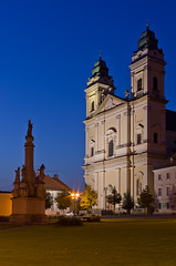 Valtice, Church of the Annuciation of the Virgin Mary (PetrSk) Tags: street city morning light church architecture night lights czech pentax historical moravian valtice pentaxart