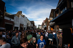 The View Down Humber Street @ Sesh 2014 (g12_ralph) Tags: sky people music buildings festivals bands busy hull crowds sesh 2014 fruitmarket humberstreet oldfruitmarket humberstreetsesh