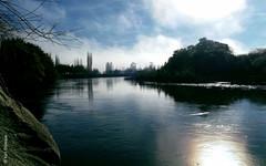 Río Toltén (*paz) Tags: nature water colors agua 2014 surdechile ríotoltén teodoroschmidt islallicán