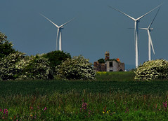 Lower Agney (richwat2011) Tags: old abandoned farmhouse landscape countryside kent nikon view ruin farmland d200 windfarm turbines windturbines 18200mmvr littlecheynecourt