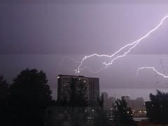 IMG_9572 ((Jessica)) Tags: chicago storm weather night buildings thunderstorm lightning thunder iphone ilightningcam