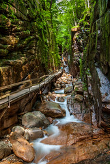 Flume Gorge (phikapphil) Tags: park new nature waterfall long exposure state franconia hampshire walkway granite gorge flume notch