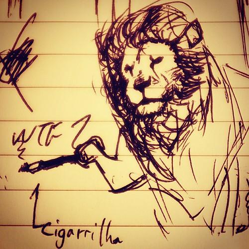 Não me lembro mais como desenhar um leão. :(