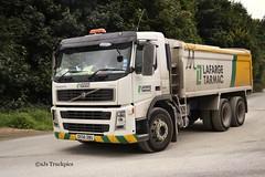 Volvo FM 8 Unknown Haulier (SJS Truck & Transport Photography.) Tags: tarmac volvo transport trucks lafarge lorries tippers haulage rigids
