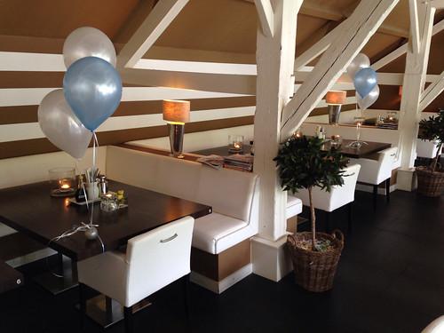 Tafeldecoratie 3ballonnen Babyshower Stroop Pannenkoeken Zuidland
