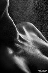 DSC_6662 (Anna Verkerk) Tags: white black water girl nude 50mm blackwhite drops nikon skin spray covered bones rough collarbones d3200