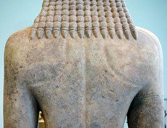 New York Kouros, detail of back