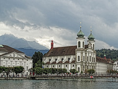 Jesuitenkirche in Lucerne. (Atelier Teee) Tags: switzerland luzern baroque lucerne jesuitenkirche riverreuss atelierteee terencefaircloth