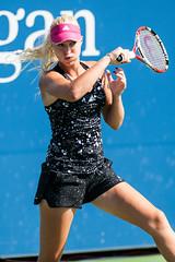 Kristina Mladenovic 2014 US Open (kwsnyc) Tags: ny newyork sport championship flushingmeadows queens tennis fra wta tenniscourt usopen billiejeankingnationaltenniscenter kristinamladenovic
