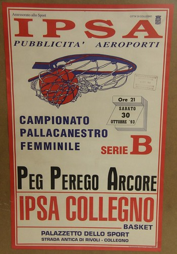 Manifesto Collegno Basket vs. Arcore - Serie B Femminile