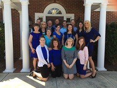 Everyone in their blue for Autism Awareness month