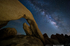 The Opening (kevin-palmer) Tags: california summer sky chihuahua night dark stars evening nationalpark desert space joshuatree august formation clear boulders galaxy astrophotography mojave astronomy starry dsf whitetank milkyway joshuatreenationalpark archrock kevinpalmer pentaxk5 samyang10mmf28
