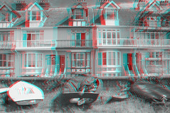 Whitstable 3D (Alexander Savin) Tags: uk sea castle stereoscopic 3d village britain anaglyph stereo whitstable stereography stereo3d redcyan