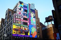 Downtown Manhattan, Paintings, USA (Yannick-R) Tags: street new york city nyc usa art downtown manhattan paintings yannick downtownmanhattan rivoire