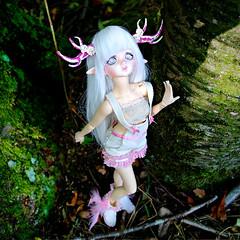 DIM Flowne (Sakura-Streifchen) Tags: nature forest doll ns mind bjd dim fairyland abjd msd balljointed balljointeddoll slimmsd amahtalafaceups asiaballjointed dressharajukudoll selfmadehorns