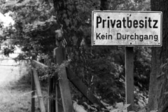 Private Property (humphr3y) Tags: blackandwhite bw canon hamburg objects signals ahrensburg