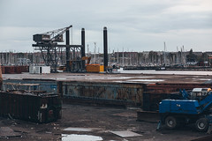 Docken, CPH (Thomas Nørgaard Elvius) Tags: urban abandoned copenhagen denmark boats harbor dock harbour crane container junkyard wreck capitalregionofdenmark