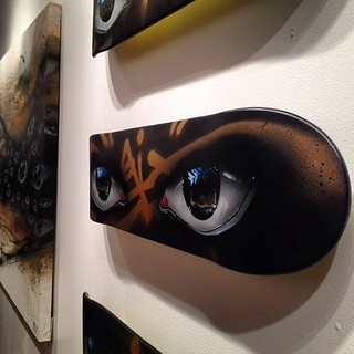 Great shot. Repost from @kelly_pelka_art. @verticalgallery #skatdeckart #mydogsighs #eyes