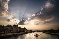 06/09/2014 La Seine (oliver.moow) Tags: sunset paris seine clouds soleil nuage