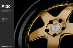 f130-matte-gold (AG Wheels) Tags: black wheel gold hardware paint painted coat wheels powder step finish lip custom rim rims function avant garde forged matte finishing avantgarde bespoke level1 f130 powdercoat agwheels agfunction