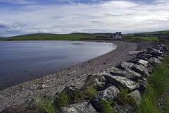 Ura Firth 2 (WatscapePhoto) Tags: sea house wall island scotland boat pebbles shore firth stevewatson shetlandislands hillswick northmainland urafirth watscapephoto