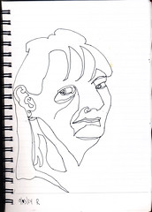 2014.09.03 50 Views of Maureen in 25 Days (d16v32) (Julia L. Kay) Tags: sanfrancisco party portrait blackandwhite bw woman white black art face female pen paper sketch san francisco artist arte julia kunst kay daily dessin peinture portraiture 365 everyday dibujo artista artiste künstler portraitparty juliakay jkpp julialkay juliakaysportraitparty jkppfeed